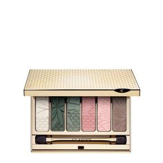 Palette Occhi 6 Colori Garden Escape - Questa palette trucco 6 colori si presenta in una sinfonia primaverile di ombretti satinati e iridescenti, lunga tenuta, leviganti.  Un chiaro-scuro di rosa, bianco perlato, due verdi decisamente primaverili e un taupe intenso.