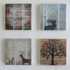 small prints of encaustic paintings with layer of wax! SO afordable! What a great solution.By Bumblebellydesigns, on Etsy