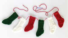Mini Christmas Stockings Pattern at HandsOccupied.com