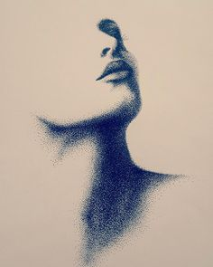 ورتريه - تنقيط بقلم البايلوت  #art #artiste #artwork #portrait #womanportrait #woman #womans #femme #femmes #drawings #draw #dessin