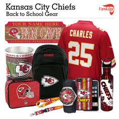 Kansas City Chiefs Fans - Pin It to Win It All! You can win a complete back to school NFL prize pack worth over 300 dollars! To enter, pin your favorite NFL Team's Back to School image to win every item in the collage! #FansEdge –Visit http://www.fansedge.com/promotions.aspx?social=pinterest_nfl_pintowin to enter