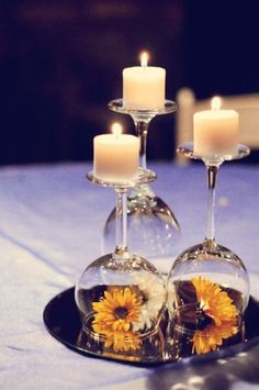 centerpiece idea...only use a purple and teal rose! - Click image to find more weddings posts