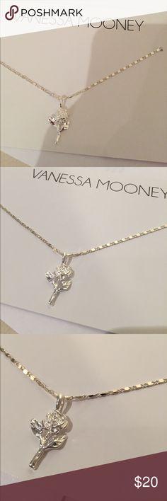 "NEW VANESA MOONEY silver rose necklace NEW VANESA MOONEY silver rose necklace. From revolve. Approx 15"" Vanessa Mooney Jewelry Necklaces"