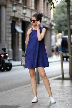 Puedes llevar este combo ganador con un vestido arriba de la rodilla, para los días calurosos…