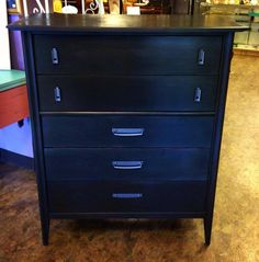 Hand-painted mid-century modern chest of drawers | Yelp