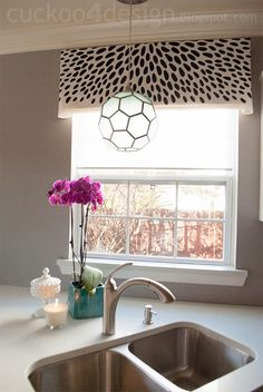 DIY Spotted Window Valance - Cuckoo4Design