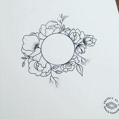 Floral circle #graphicbyd #minimalist #lines #linework #tattoodesign #visualart #perspective #pendrawing #artwork #art #ink #flowers #floraltattoo #flowertattoo #circletattoo #geometry