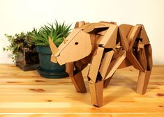 Kinetic cardboard animals!