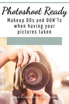 Makeup DOs and DONTs for a photoshoot Makeup DOs and DONTs for a photoshoot ,Boundless Bloom Beauty Makeup tips for a photoshoot. Makeup to avoid during photoshoot. makeup Dos and Donts for photos. Wedding Makeup Tips, Hair And Makeup Tips, Best Makeup Tips, How To Do Makeup, Bridal Makeup Looks, Best Makeup Products, Makeup Tips And Tricks, Diy Makeup For Photoshoot, Photoshoot Ideas