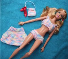 Barbie Knitting Patterns, Bikini Pattern, Barbie And Ken, Barbie Clothes, Bikinis, Swimwear, Dressing, Dit, Blog