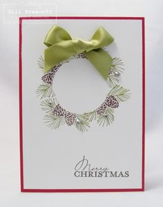 Stampin up - Christmas wreath