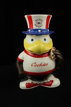 Great American Cookie Company Sneagle Eagle Cookie Jar Uncle Sam Vintage |