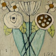 17 Best images about Cecel Allee Folk Art Flowers, Abstract Flowers, Art Floral, Love Art, Painting Inspiration, Unique Art, Art Images, Collage Art, Art Drawings