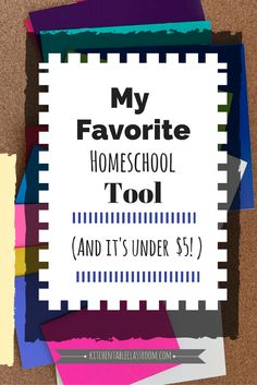 One of my favorite homeschool supplies remains no matter how many curriculum changes we go through. It's so simple it's easy to miss! Its the blank book!