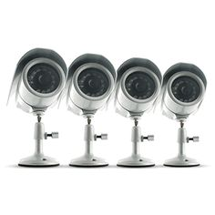 4 Hi-Res Indoor/Outdoor Night Vision CCD Security Cameras $149.99
