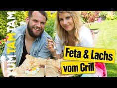 Gegrillte Lachs- und Feta-Päckchen