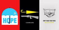Occupy / umbrella movement posters