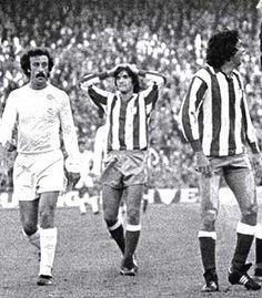 De izquierda a derecha, Del Bosque (Real Madrid), Marcos and Rubén Cano (Atlético Madrid). (Foto: Marcamedia)