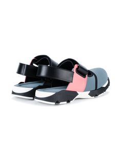 ef8b05fee088e Marni baskets colour block Black Block Heel Sandals