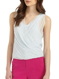Alice + Olivia Fallyn Draped Top