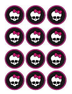 monster high free printables | Monster High Edible Party Cupcake Toppers Cupcake Image Sheet | eBay