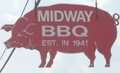 Midway BBQ  My hometown of Union, SC