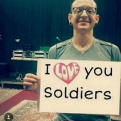 Your Soldier fans LOVE you too, Chester! kslp