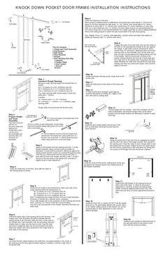 sliding closet door installation instructions