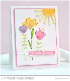 Sketched Blooms, Label Maker Love, Blueprints 20 Die-namics, Sunny Skies Die-namics - Debbie Olson  #mftstamps