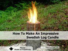 How to make an impressive Swedish Log Fire
