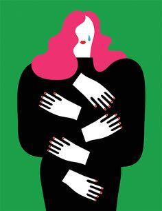 Olimpia Zagnoli Una questione privata l'illustrazione per La Repubblica di libri e di dolore.