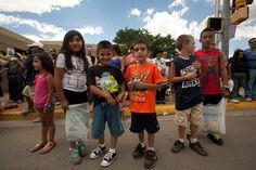 Parade goers at Fiestas de Taos 2012
