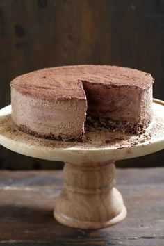 NOMU is an original South African food and lifestyle concept by Tracy Foulkes. No Bake Chocolate Cake, Frozen Chocolate, Decadent Chocolate, Cocoa Recipes, Ice Cream Recipes, Dessert Recipes, Cold Desserts, Frozen Desserts, Frozen Yoghurt