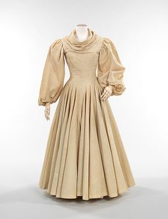 Muslin. Charles James. 1944 The Charles James holdings include an extraordinary collection of sewn muslins and flat patterns that represent James' design process from original concept to the finished garment.