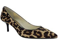 Michael Kors Women's Flex Kitten Pumps Natural Leopard Print Haircalf Size 5.5 M #MichaelKors #PumpsClassics #Dress