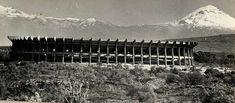 Estadio Azteca, Calz de Tlalpan 3465, Santa Ursula Coapa, Coyoacán, México DF 1966    Arq. Pedro Ramírez Vázquez y Rafael Mijares    Azteca Stadium, Coyoacan, Mexico City 1966