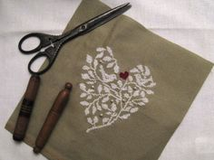 heart of vines and bird embroidery pattern, follow link to save pdf pattern.