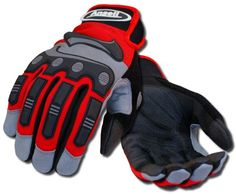 The Heavy Duty Impact glove is suitable for a variety of demanding tasks, such as demolitions, roofing, power tool usage, and DIY masonry.  The rubberized knuckle band provides protection without sacrificing dexterity, and the wear resistant palm and finger grips aid in the handling of abrasive materials.