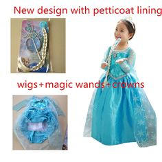 #New #design with #petticoat and #lining #Elsa dress cosplay costume in frozen #nightgowns dresses girl #thesnow #queen baby girl #princess dress with #Wigs+#magicwands+#crowns  http://yunhuigarment.en.alibaba.com/product/1982551592-222656377/elsa_dress_cosplay_costume_in_frozen_nightgowns_dresses_girl_the_snow_queen_baby_girl_prince_dress_with_petticoat_lining.html