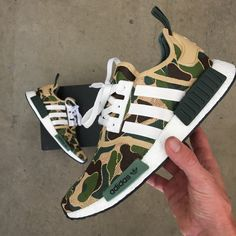 BAPE inspired custom hand painted Adidas NMD with the Adidas Shoes Women, Adidas Men, Adidas Sneakers, Mens Boots Fashion, Sneakers Fashion, Men Fashion, Boogie Shoes, Sports Footwear, Fresh Shoes