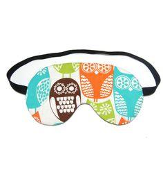 Hey, I found this really awesome Etsy listing at https://www.etsy.com/listing/153332237/wide-eyed-owls-sleep-eye-mask - sleep mask designer eye covering slumber rest relaxation darken