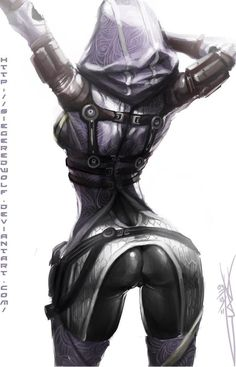 sexy tali #MassEffect Character Concept, Character Art, Concept Art, Character Design, Manga Comics, Tali Mass Effect, King's Quest, Animes On, Ecchi