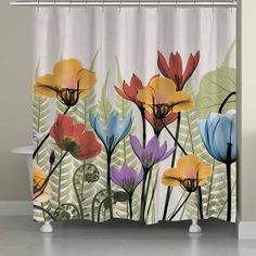 Laural Home Flowers And Ferns Shower Curtain, Color: Multi - JCPenney