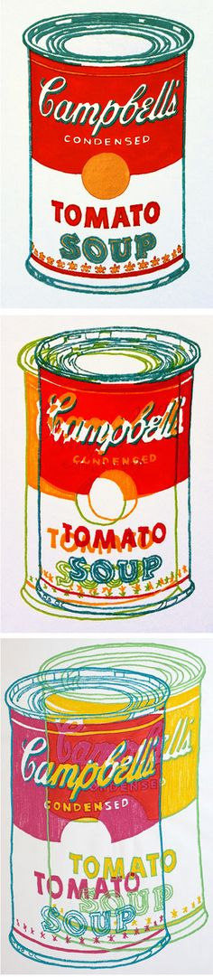 Embroidered Soup Cans