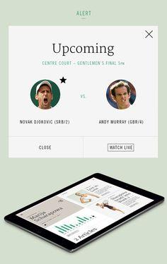 Wimbledon iPad App | Tablet User Interface Design