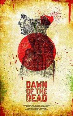 Dawn of the Dead poster by Jason Kauzlarich Alternative fan-art poster to the iconic George Romero zombie films. Zombie Movies, Scary Movies, Horror Movies, Halloween Movies, Horror Posters, Cinema Posters, Disney Posters, Minimal Movie Posters, Cool Posters