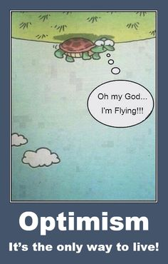 Optimism . . . It's the only way to live! #funny