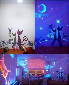 While I'm not into cats, this type of room would be really, really cool to do!