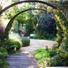 Ideas For Small Vegetable Garden Design Diy Garden, Dream Garden, Garden Paths, Garden Art, Garden Landscaping, Garden Archway, Garden Projects, Garden Bridge, Landscaping Ideas