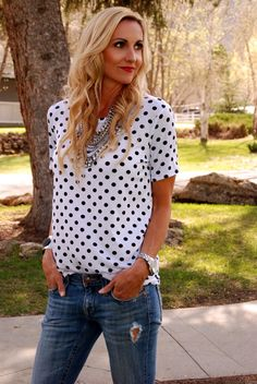Perfect Polka Dot Tee! | Jane